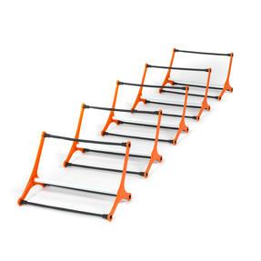 Gorilla Training COMBO-4065 Sports Agility Training Set with 5 Hurdles and 9m Speed Ladder, Black/Orange Thumbnail 2