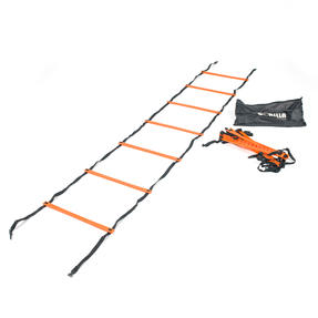 Gorilla Training COMBO-4065 Sports Agility Training Set with 5 Hurdles and 9m Speed Ladder, Black/Orange Thumbnail 3