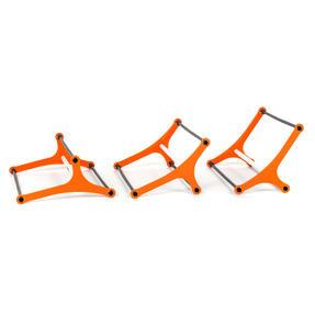 Gorilla Training COMBO-4065 Sports Agility Training Set with 5 Hurdles and 9m Speed Ladder, Black/Orange Thumbnail 4