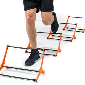 Gorilla Training COMBO-4065 Sports Agility Training Set with 5 Hurdles and 9m Speed Ladder, Black/Orange Thumbnail 6