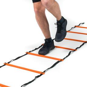 Gorilla Training COMBO-4066 Sports Agility Training Set with 10 Hurdles and 18m Speed Ladder, Black/Orange Thumbnail 2