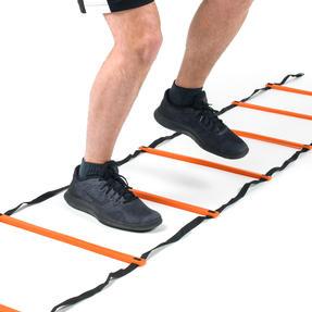 Gorilla Training COMBO-4066 Sports Agility Training Set with 10 Hurdles and 18m Speed Ladder, Black/Orange Thumbnail 3