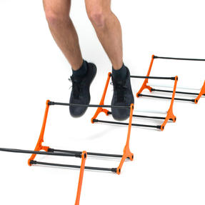 Gorilla Training COMBO-4066 Sports Agility Training Set with 10 Hurdles and 18m Speed Ladder, Black/Orange Thumbnail 5