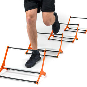 Gorilla Training COMBO-4067 Speed Vision with 5 Hurdles and 9m Speed Ladder, Black/Orange Thumbnail 6