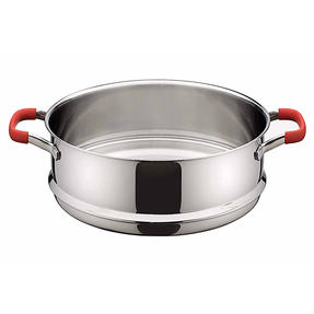 Pyrex P500735 Passion Steamer with Lid, 24 cm, Stainless Steel, Red Thumbnail 2