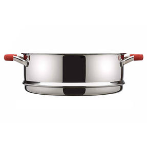 Pyrex P500735 Passion Steamer with Lid, 24 cm, Stainless Steel, Red Thumbnail 5