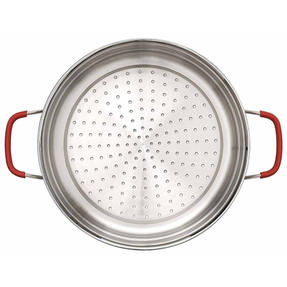 Pyrex P500735 Passion Steamer with Lid, 24 cm, Stainless Steel, Red Thumbnail 6