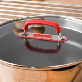 Pyrex P500886 Passion Non-Stick Sauté Pan with Lid, 24 cm, Stainless Steel, Red Thumbnail 5