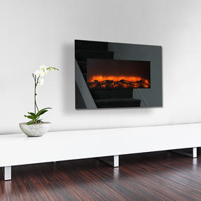 Beldray EH3145MOB Corsica Electric Wall Fire with LED Flame Effects, 900 W / 1800 W Thumbnail 2