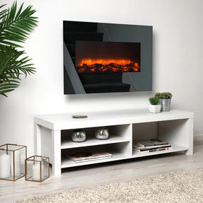 Beldray EH3145MOB Corsica Electric Wall Fire with LED Flame Effects, 900 W / 1800 W Thumbnail 3