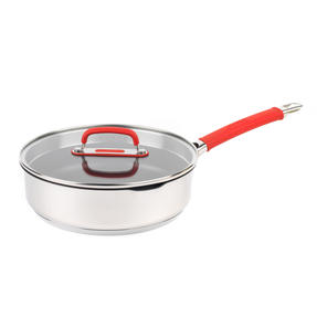 Pyrex COMBO-4097 Passion Saucepan, Saute Pan and Grill Pan Set, 18 / 24 / 28 CM, Stainless Steel / Red Thumbnail 5