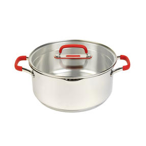 Pyrex COMBO-4098 Passion 7 Piece Non Stick Oven Safe Cookware, Stainless Steel / Red Thumbnail 9