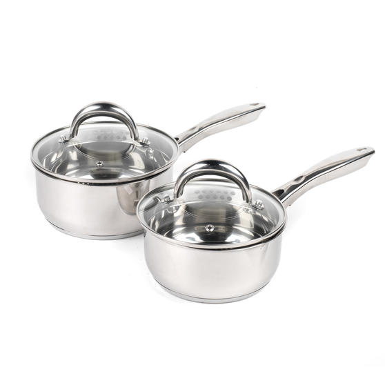 Russell Hobbs COMBO-4040 Optimum Collection Saucepans, 16 / 18 CM, Stainless Steel