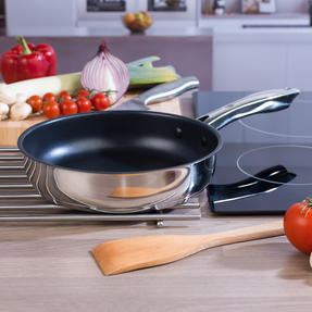 Russell Hobbs COMBO-4041 Optimum Collection Frying Pan and Saucepan Set, Stainless Steel, 5 Piece Set Thumbnail 8
