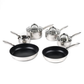 Russell Hobbs COMBO-4042 Optimum Collection Frying Pan and Saucepan Set, Stainless Steel, 6 Piece Thumbnail 1