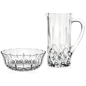 RCR COMBO-4010 Opera Luxion Crystal Cocktail Jug and Centrepiece Bowl
