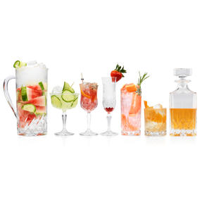 RCR COMBO-4017 Opera Luxion Crystal Glass Collection, 62-Piece Set