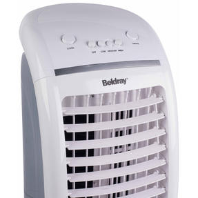 Beldray EH3056STK 6 L Purifying Portable Air Cooler with 3 Fan Speeds and Ioniser function, Water Level Indicator & Swing Function for Air Circulation, 65 W, White/Grey Thumbnail 3