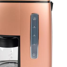 DeLonghi KBICIMI211CP Distinta Filter Coffee Machine, 1.25 L, 1000 W, Matte Metallic Copper Thumbnail 4