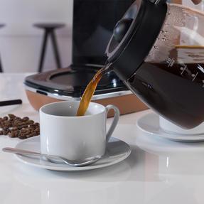 DeLonghi KBICIMI211CP Distinta Filter Coffee Machine, 1.25 L, 1000 W, Matte Metallic Copper Thumbnail 9
