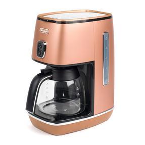 DeLonghi KBICIMI211CP Distinta Filter Coffee Machine, 1.25 L, 1000 W, Matte Metallic Copper Thumbnail 2