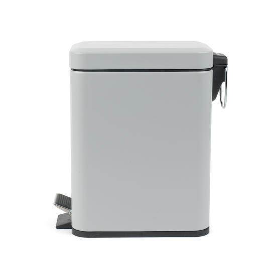 Beldray Rectangular Waste Pedal Bin with Soft Closing Lid, 5 Litres, Grey, Set of 2 Thumbnail 3