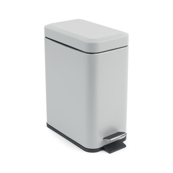 Beldray Rectangular Waste Pedal Bin with Soft Closing Lid, 5 Litres, Grey, Set of 2 Thumbnail 5