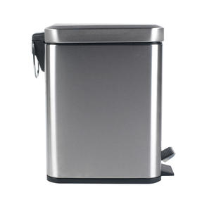 Beldray COMBO-4261 Rectangular Waste Pedal Bin with Soft Closing Lid, 5 Litres, Stainless Steel, Set of 2 Thumbnail 3