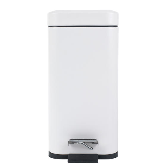Beldray Rectangular Waste Pedal Bin with Soft Closing Lid, 5 Litres, White, Set of 2 Thumbnail 4
