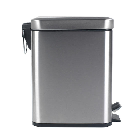 Beldray Rectangular Waste Pedal Bin with Soft Closing Lid, 5 Litres, Stainless Steel, Set of 3 Thumbnail 3