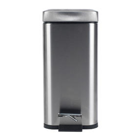 Beldray COMBO-4264 Rectangular Waste Pedal Bin with Soft Closing Lid, 5 Litres, Stainless Steel, Set of 3 Thumbnail 4