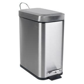 Beldray COMBO-4264 Rectangular Waste Pedal Bin with Soft Closing Lid, 5 Litres, Stainless Steel, Set of 3 Thumbnail 5