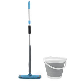 Beldray COMBO-4075 Easy Twist & Wring Extendable Mop with Grey 10 Litre Collapsible Bucket