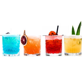 RCR COMBO-4267 Mixology Luxion Crystal Tumbler Whisky Short Glasses, Set of 12