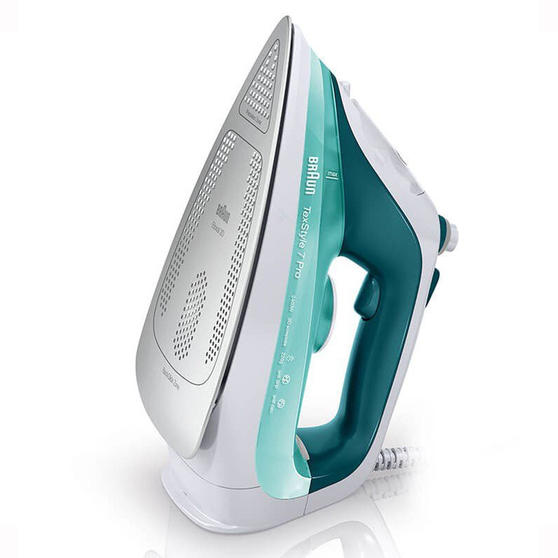 Braun SI7042GR TexStyle 7 Pro Multifunctional Steam Iron, 300 ml, 2400 W, Green/White