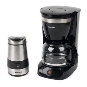 Salter COMBO-3838 Coffee Maker with Keep Warm Function and Electric Coffee Bean and Spice Grinder, Black / Stainless Steel Thumbnail 1