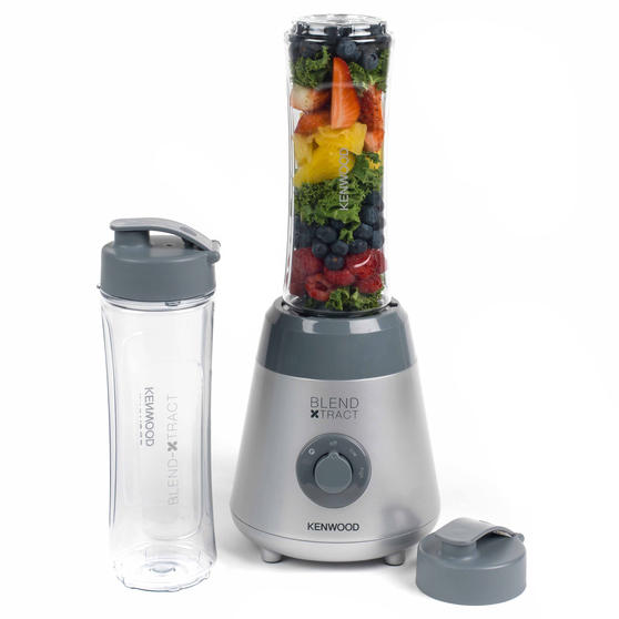 Kenwood SMP060 Blend Xtract Sport Smoothie Maker With Detachable Blades, 0.6 L, 300 W, Silver