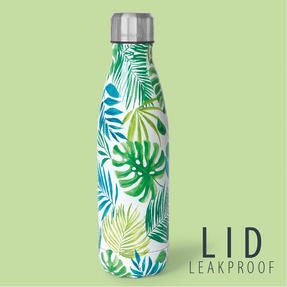 Cambridge CM06510 Aloha Palm Beach Thermal Insulated Flask Bottle, 500 ml, Stainless Steel Thumbnail 6