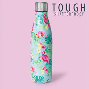 Cambridge CM06510 Aloha Palm Beach Thermal Insulated Flask Bottle, 500 ml, Stainless Steel Thumbnail 7