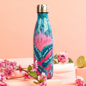 Cambridge CM06510 Aloha Palm Beach Thermal Insulated Flask Bottle, 500 ml, Stainless Steel Thumbnail 10
