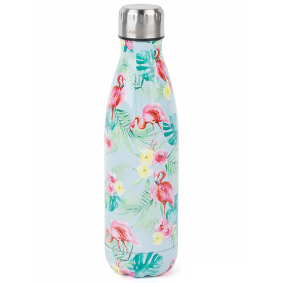 Cambridge CM06511 Flamingo Jungle Thermal Insulated Flask Bottle, 500 ml, Stainless Steel