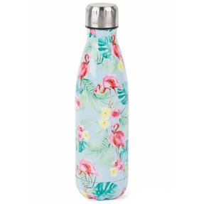 Cambridge CM06511 Flamingo Jungle Thermal Insulated Flask Bottle, 500 ml, Stainless Steel Thumbnail 1