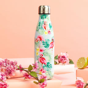 Cambridge CM06511 Flamingo Jungle Thermal Insulated Flask Bottle, 500 ml, Stainless Steel Thumbnail 3
