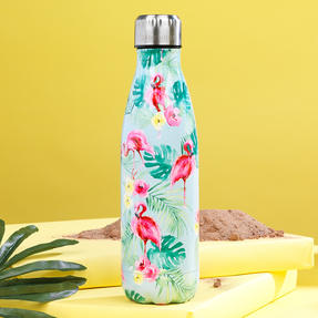Cambridge CM06511 Flamingo Jungle Thermal Insulated Flask Bottle, 500 ml, Stainless Steel Thumbnail 4