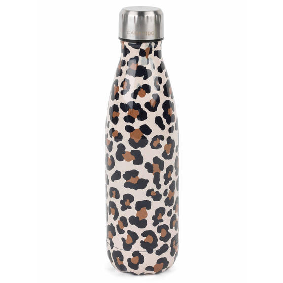 Cambridge CM06513 Watercolour Leopard Thermal Insulated Flask Bottle, 500 ml, Stainless Steel