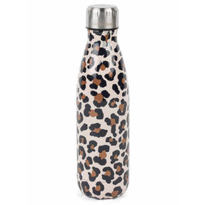Cambridge CM06513 Watercolour Leopard Thermal Insulated Flask Bottle, 500 ml, Stainless Steel Thumbnail 1