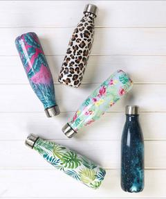 Cambridge CM06515 Cosmos Print Thermal Insulated Flask Bottle, 500 ml, Stainless Steel Thumbnail 2