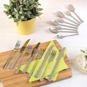 Salter COMBO-2047 Elegance Buxton 32 Piece Cutlery Set, Stainless Steel, 15 Year Guarantee Thumbnail 3