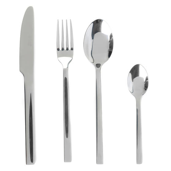 Russell Hobbs COMBO-2046 Deluxe Vermont 32 Piece Cutlery Set, Stainless Steel, 15 Year Guarantee