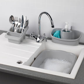 Beldray COMBO-4239 10L Washing Up Bowl, Storage Caddy and Cutlery Drainer, Grey Thumbnail 2